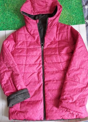 Малиновая двусторонняя куртка