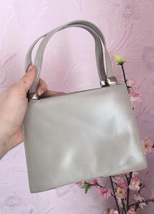Маленькая кожаная сумка клатч 100% кожа