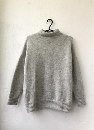 Шерстяной оверсайз свитер / шерстяний светр світер h&m - xs