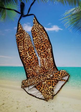 Купальник боди сексуальный леопардовый gloria murphy