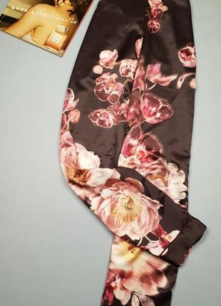 Легкие летние бпюки в цветочный принт пижамного стиля lipsy p12/l.