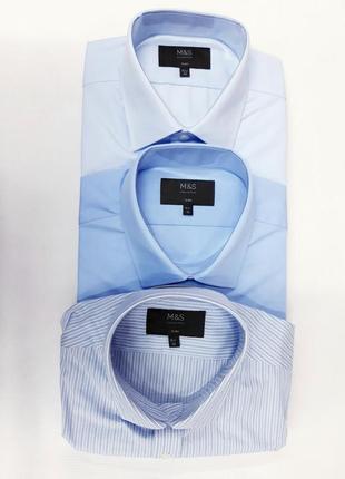 Отличный набор мужских рубашек marks & spencer slim ворот 42
