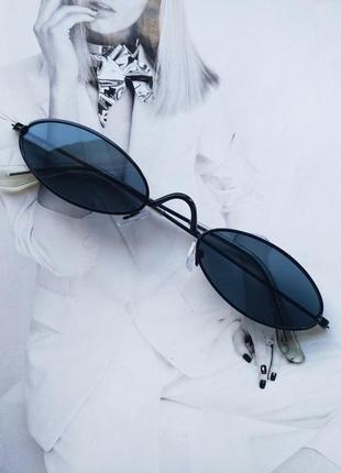 Солнцезащитные очки маленький овал черный