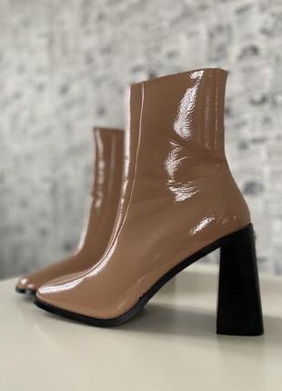 Очень крутые лаковые ботинки весна осень на узенькую ножку