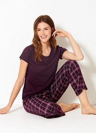 Женская пижама 6/8 размер (s), от marks spencer