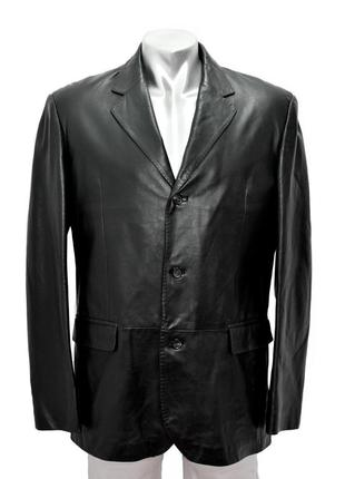Кожаная мужская куртка  tailor&son.  код  610