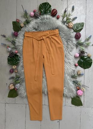 Актуальные зауженные брюки с поясом №403
