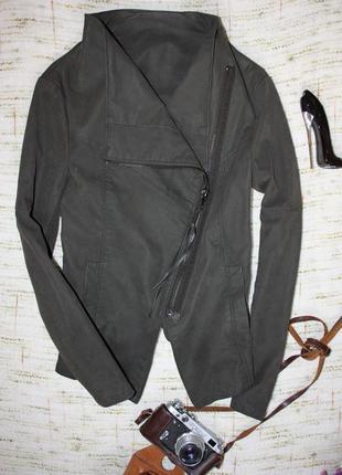 Пиджак куртка. косуха h&m. материал под замшу