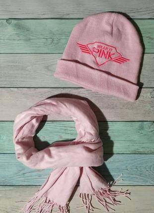♠️ крутой демисезонный трикотажный комплект - шапка с отворотом и шарф ♠️