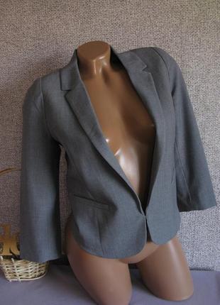 Пиджак жакет укороченный h&m eur 34-36