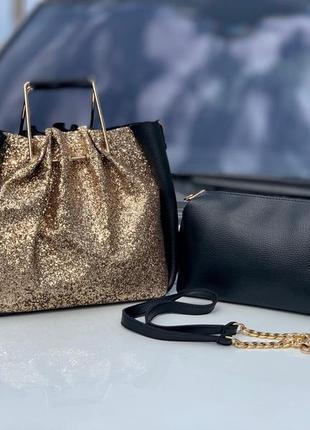 Женская сумка экокожа комплект (арт.л474)