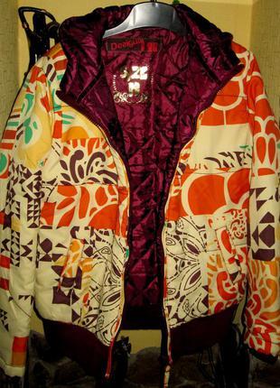 Стеганная куртка desigual,на синтепоне,раз м