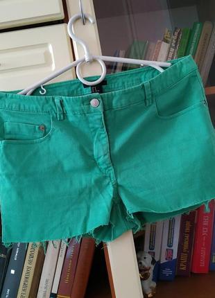 Шорты зеленые джинс