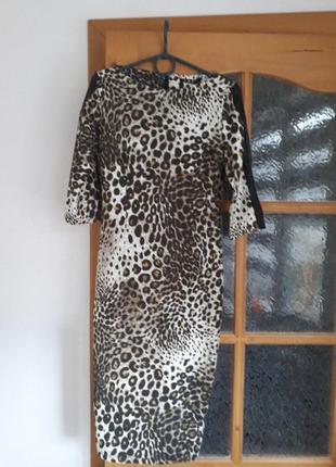 Нова вечірня сукня в леопардовий принт