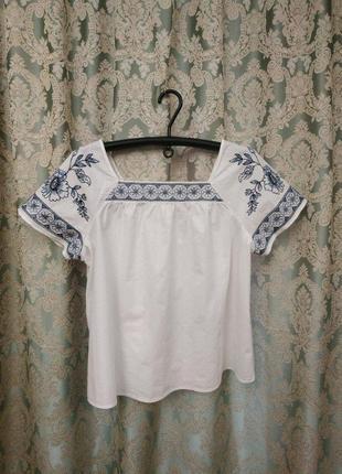 Блузка вышиванка от tu большого размера