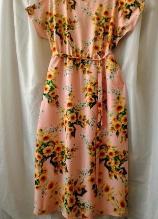 Штапельное платье в пол