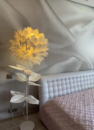 Торшер ночник - гигантский георгин ручной работы, декор в спальню