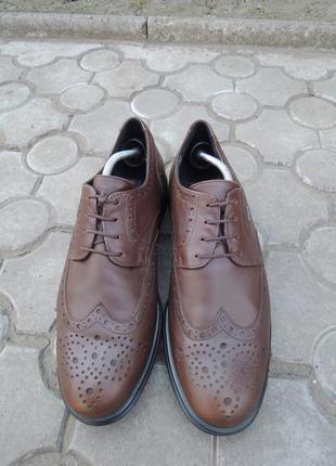 Кожаные туфли лоферы lloyd gore-tex р.44