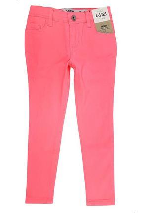 Яркие неоновые джинсы skinny на девочку 110 р. , denim co