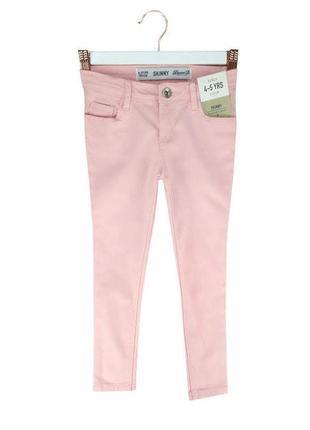 Модные розовые джинсы skinny на девочку 110, 116 р, denim co