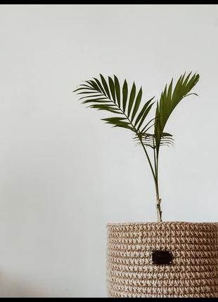 Корзина декоративная из натурального материала - джута