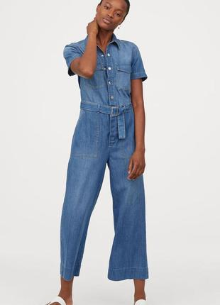 Стильный джинсовый комбинезон h&m,p.xs