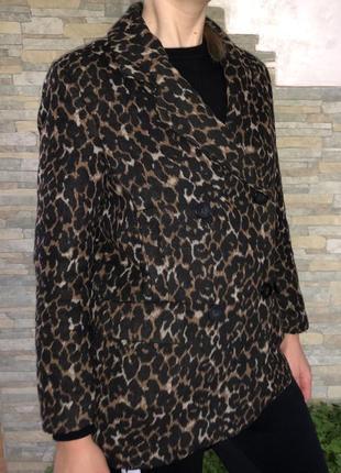 Шерстяное пальто-пиджак