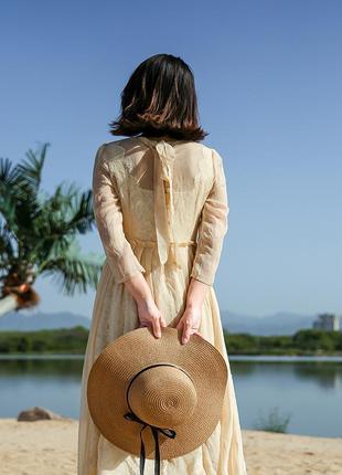 13-38 женская шляпа с широкими полями летняя от солнца шляпка панамка пляжная