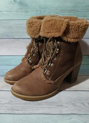 ♠️ натуральные зимние ботинки из нубука и замша thomas munz (25 см) ♠️