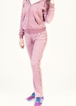 Вельветовый розовый спортивный костюм esmara