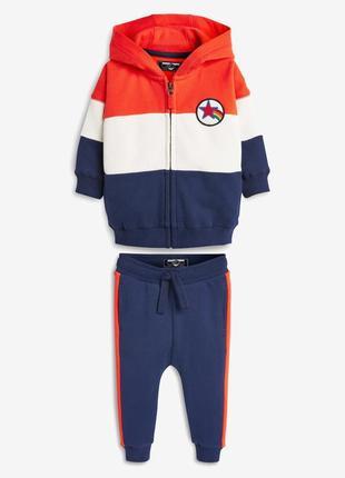 Стильный костюм next (толстовка и штаны) 2-3 года (92-98см)