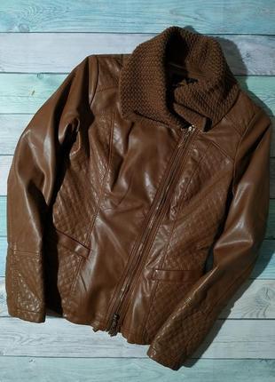 ♠️ стильная утепленная куртка косуха с съемным воротником ♠️