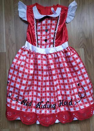 Платье красная шапочка 9-10 лет