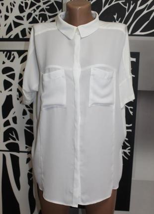 Комбинированная блузка next в идеальном состоянии l-xl