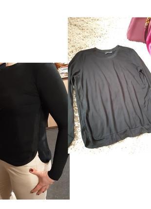 Базовый  черный ,нежный свитер,zara,  p. s-m