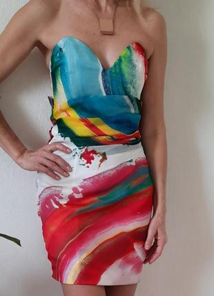 Шелковое платье бюстье &other stories,cos,massimo ditti,размер 36