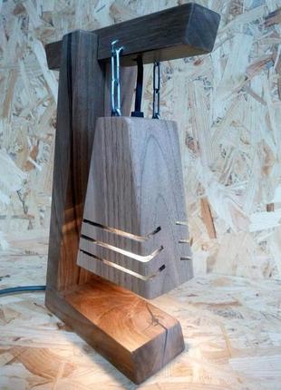 Лампа настольная натуральная ручная работа