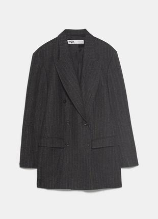 Двубортный пиджак блейзер zara