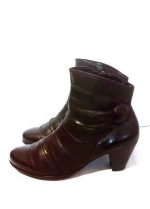 Кожаные демисезонные ботильоны / ботинки от бренда gabor, р.38 код b3856