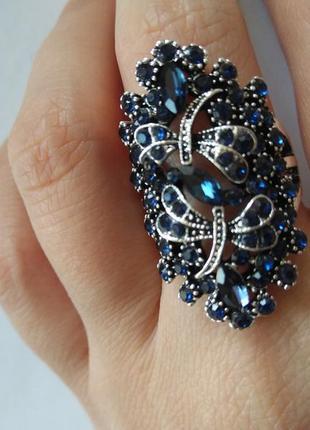 Кольцо со стрекозами