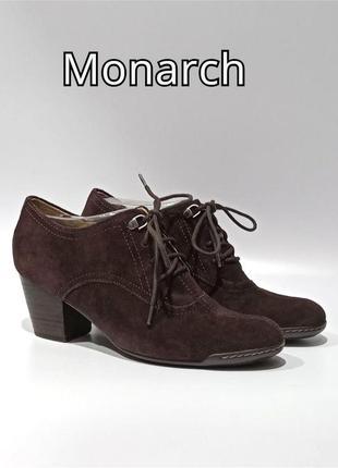 Кожаные туфли ботильоны monarch