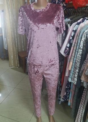 Женский велюровый костюм для дома!
