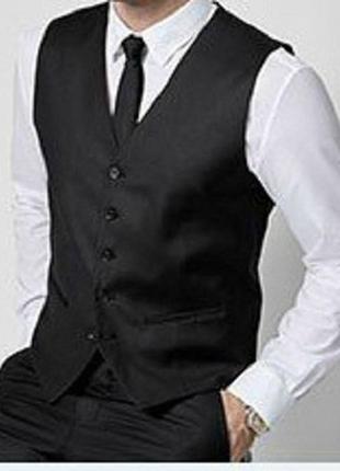 Жилет классический школьный с галстуком 10-16 лет жилетка