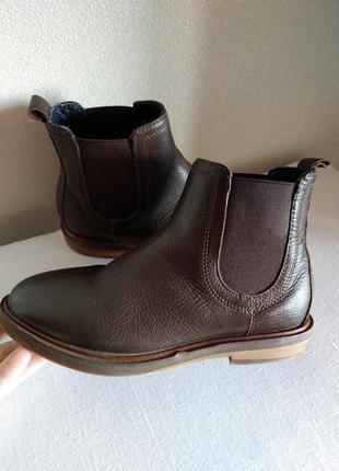 Ботинки zara кожа девочка-мальчик 31 размер