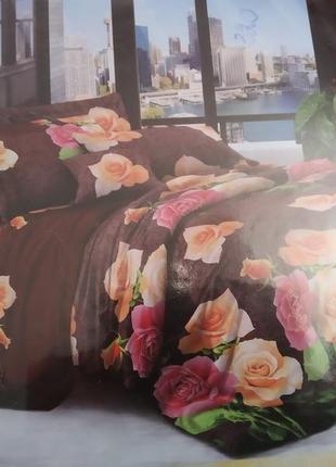 Комплект постельного белья полусатин 3d