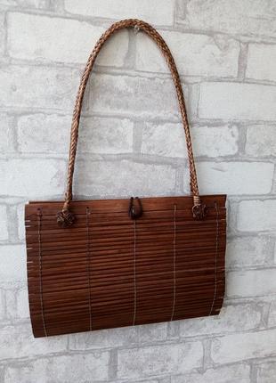 Винтажная плетеная сумка