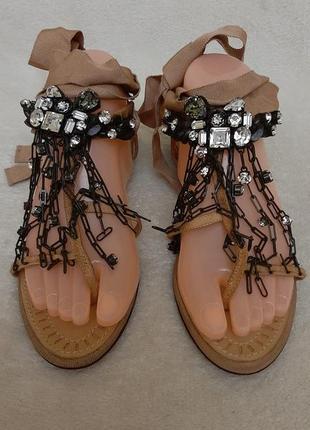 Шикарные кожаные босоножки, сандалии фиомы  lamin ete vero cuio p.39-40 стелька 25,5 см