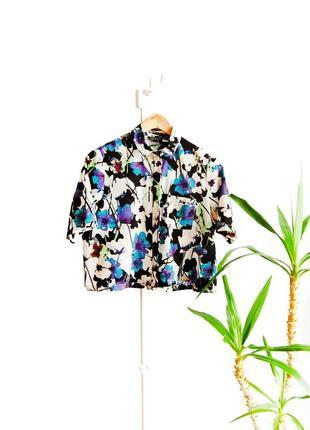 Рубашка топ в стиле кимоно topshop