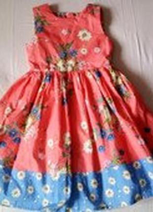 Ооочень красивое платье с россыпью цветов.john lewis/7-8 л
