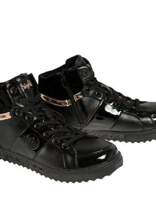 Демисезонные черные ботинки марки cool club